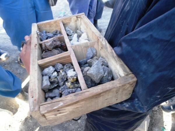 Os minerais explorados no Cerro - estanho, prata, zinco e plumbo (Foto: Jessica Mota)
