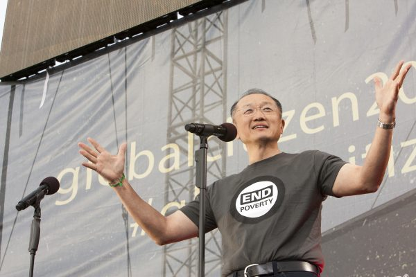O presidente do Banco Mundial, Jim Yong Kim, durante evento do Dia da Terra, em Washington