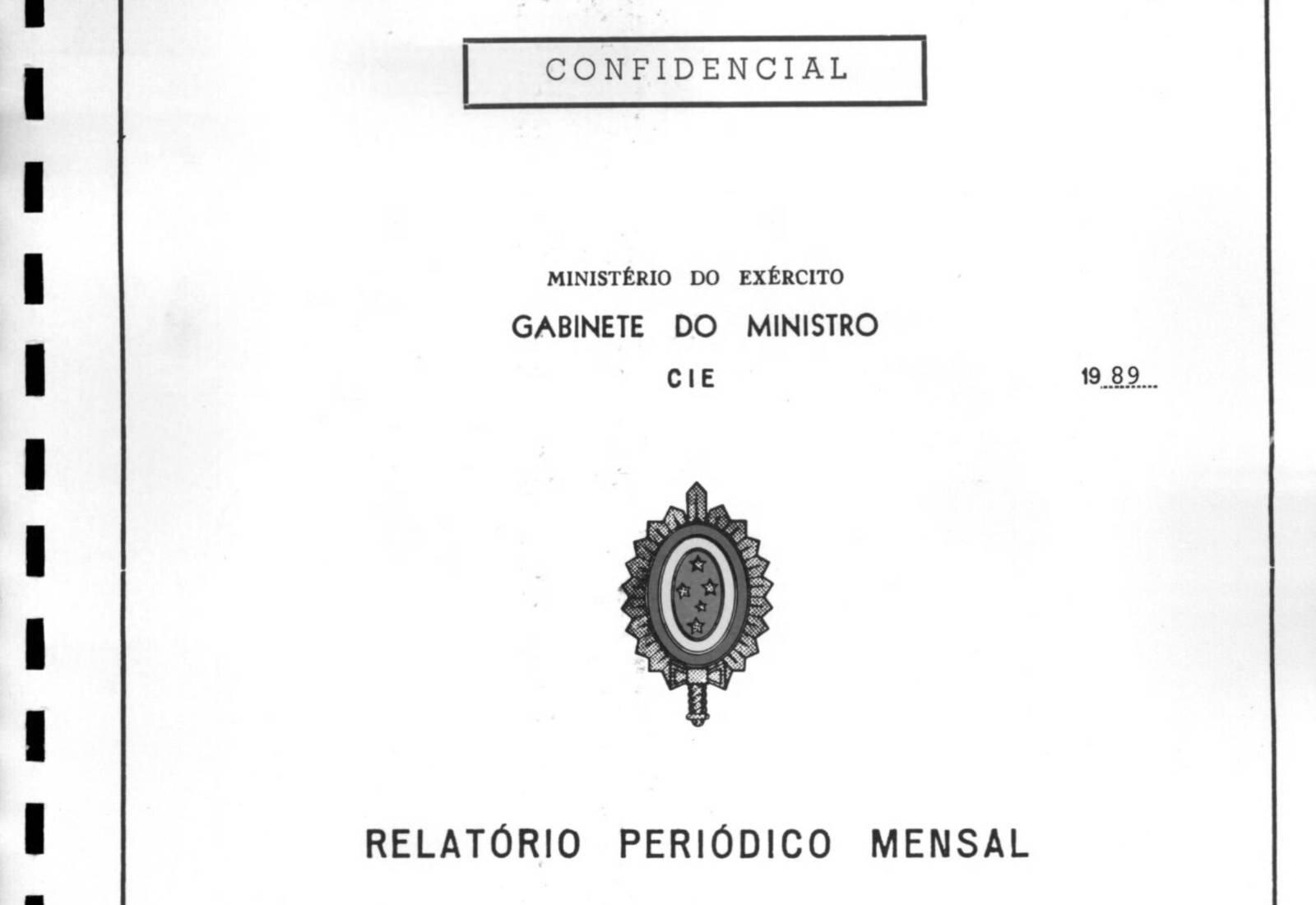 Print de um dos arquivos confidenciais do Ministério do Exército
