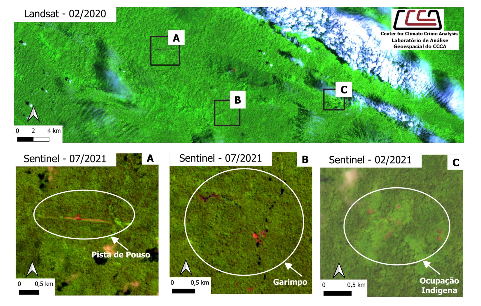 """""""A 12 km"""" indígenas Yanomami isolados nunca viram o garimpo tão próximo"""