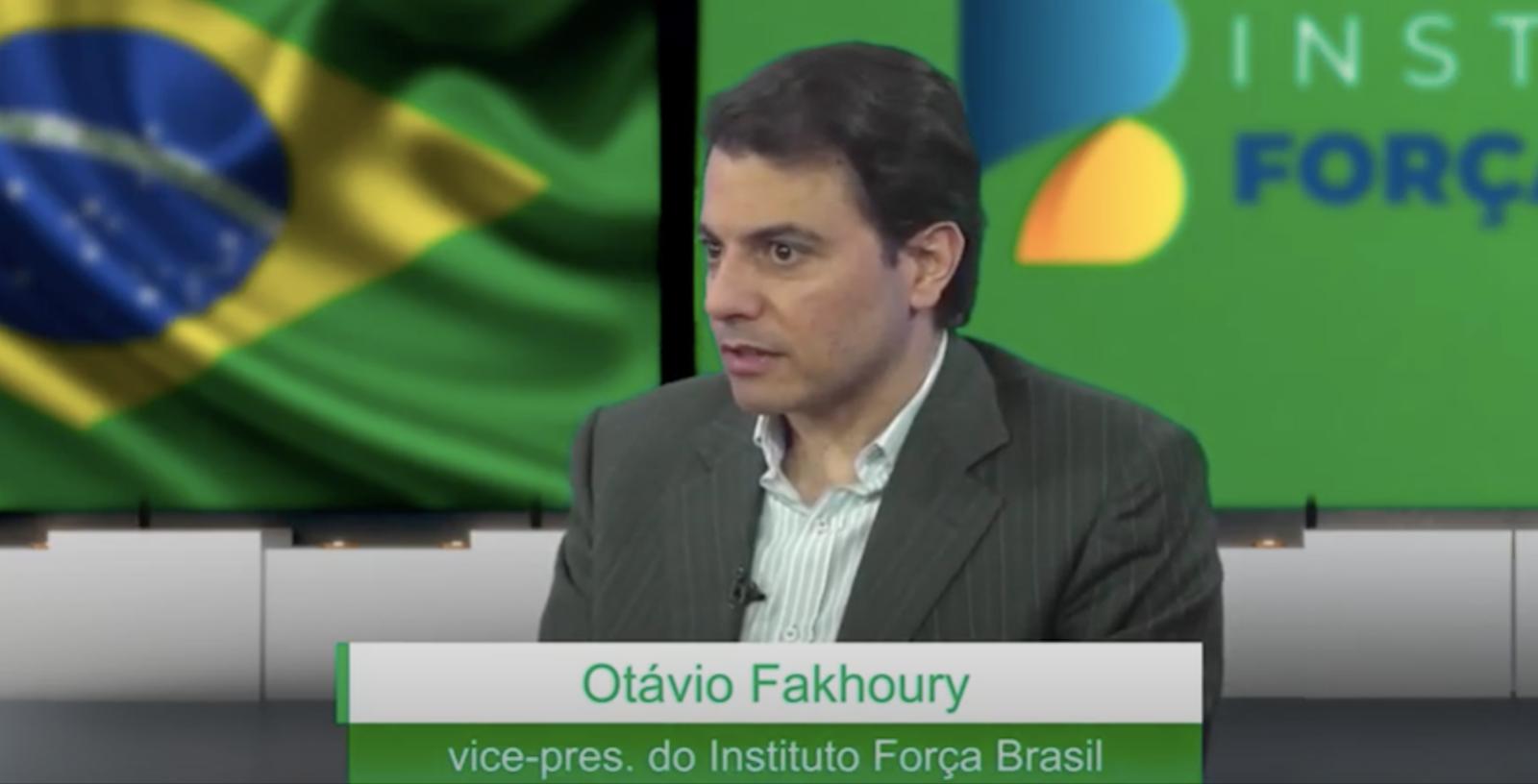 O empresário Otávio Fakhoury em entrevista ao canal de Youtube do Instituto Força Brasil, do qual é vice-presidente, em junho deste ano